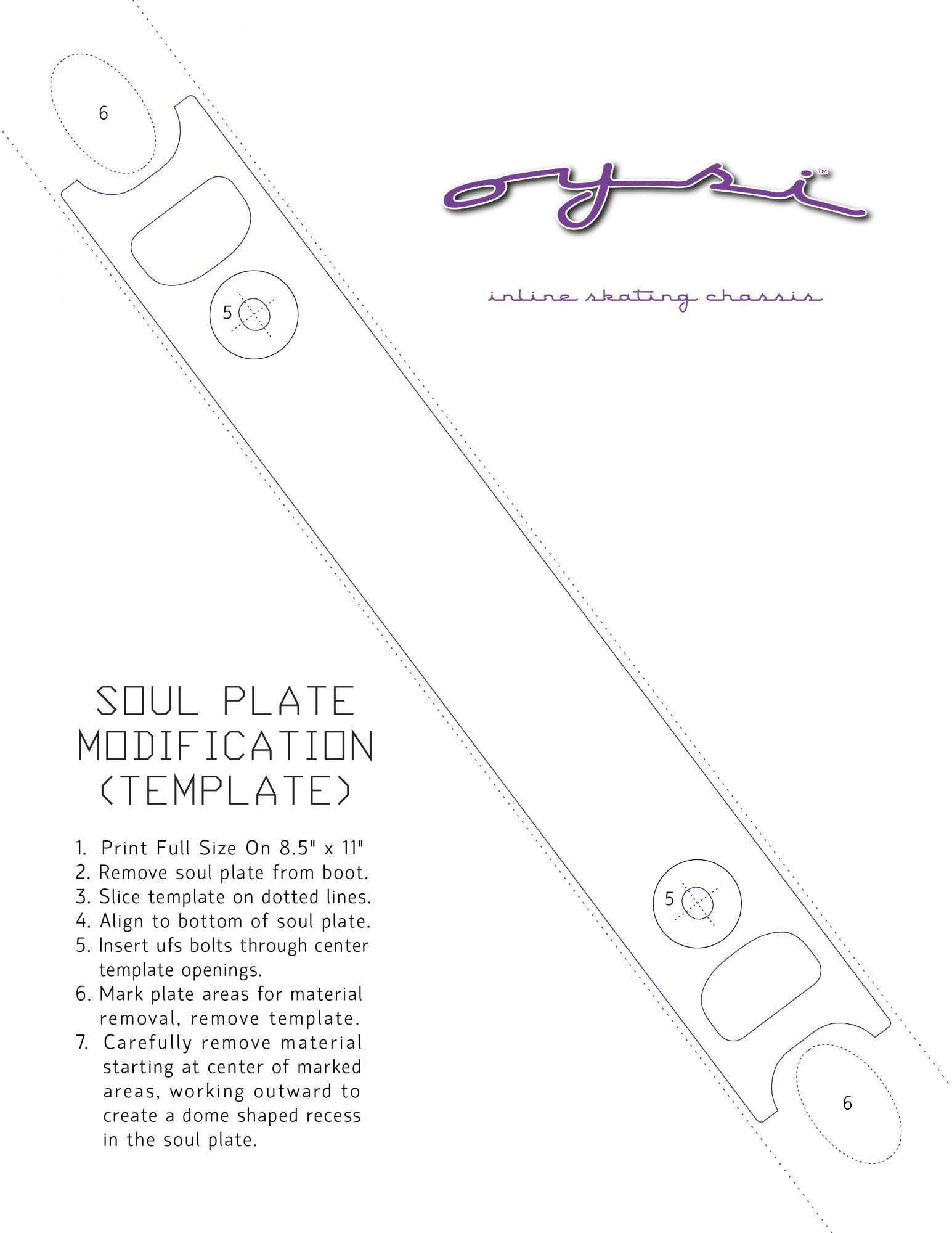Oysi Technical Specifications Soul Plate Modification Template