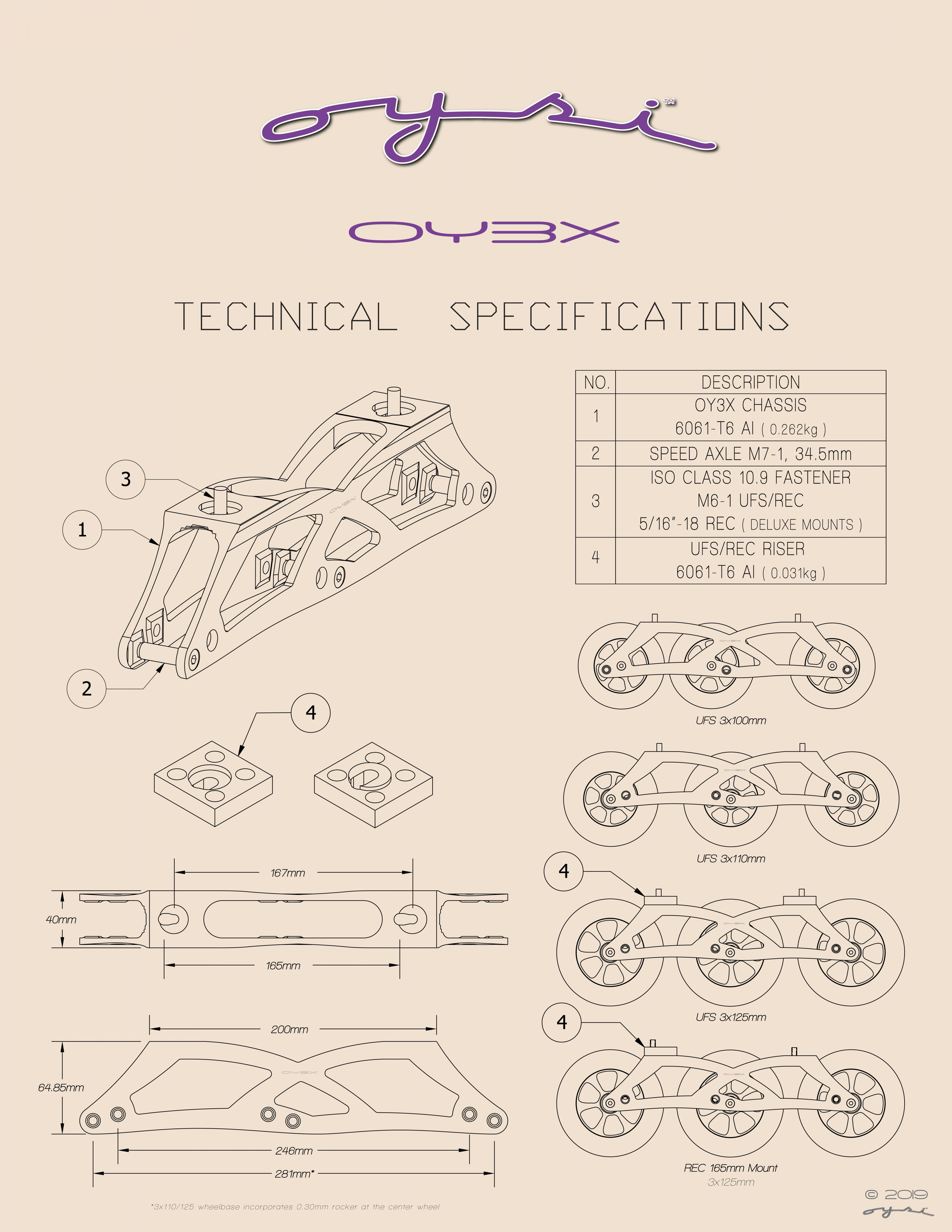 Oysi OY3X Chassis Technical Specifications
