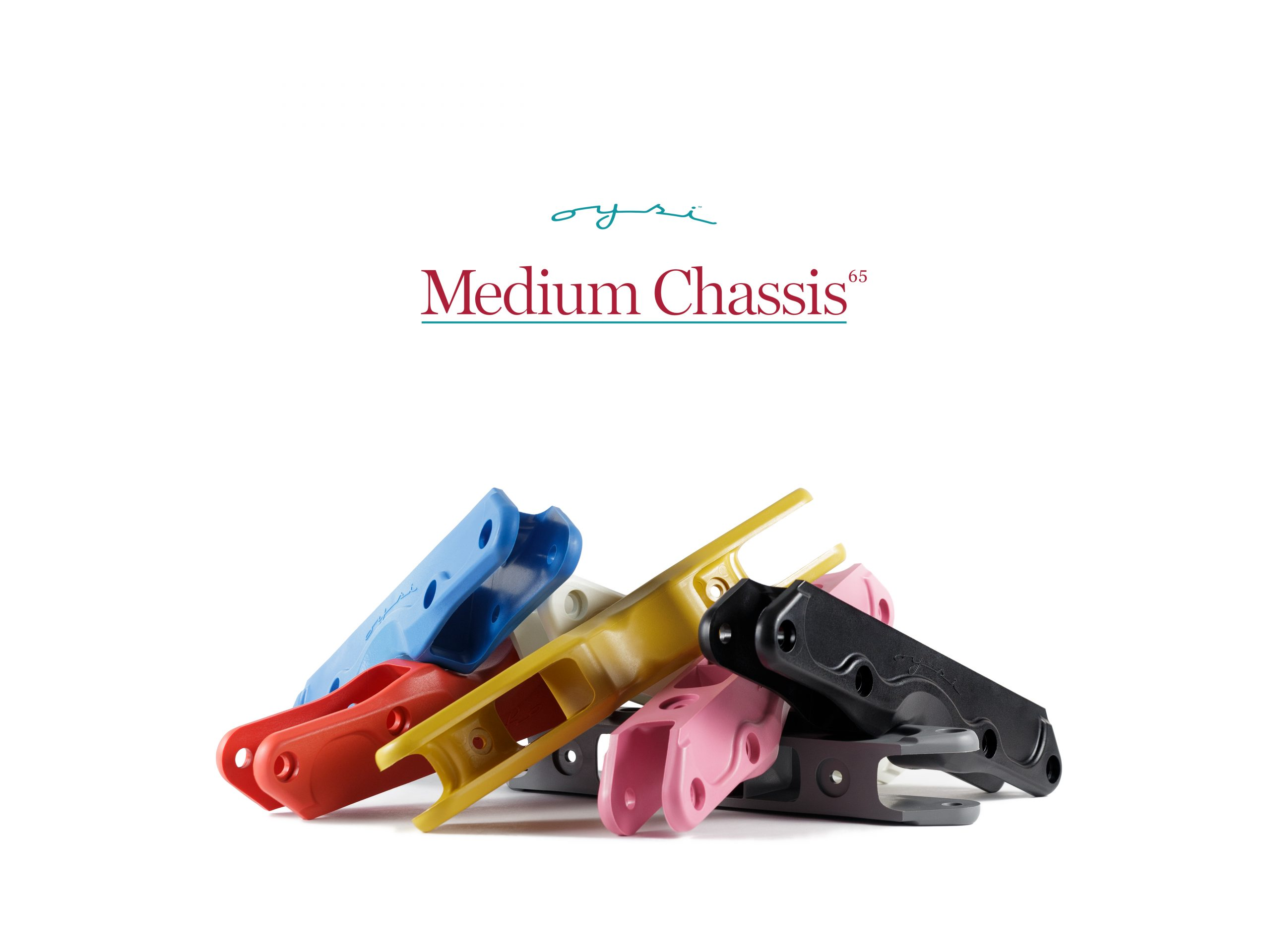 Oysi Medium Chassis Black - Blue - BubbleGum - Dijon - Grey - Kermes Red - White