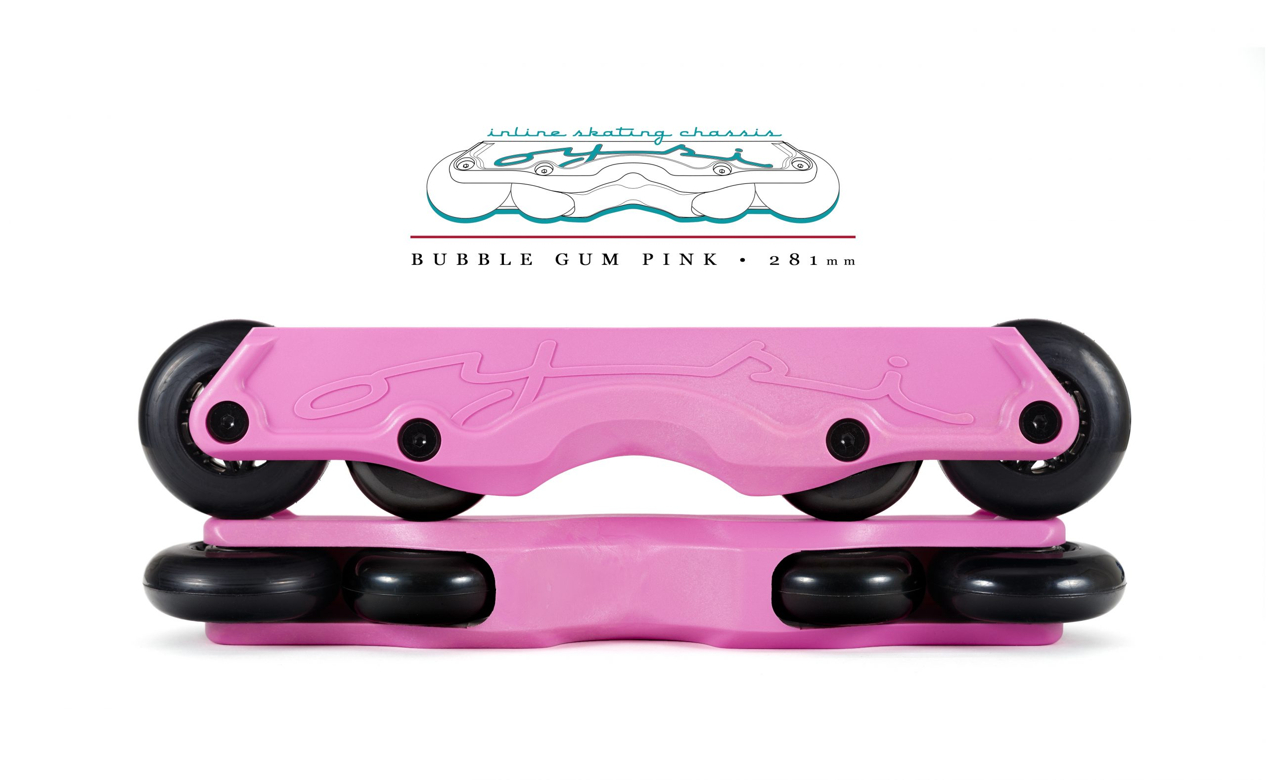 OISC Oysi Inline Skating Chassis 72mm  Bubble Gum Pink