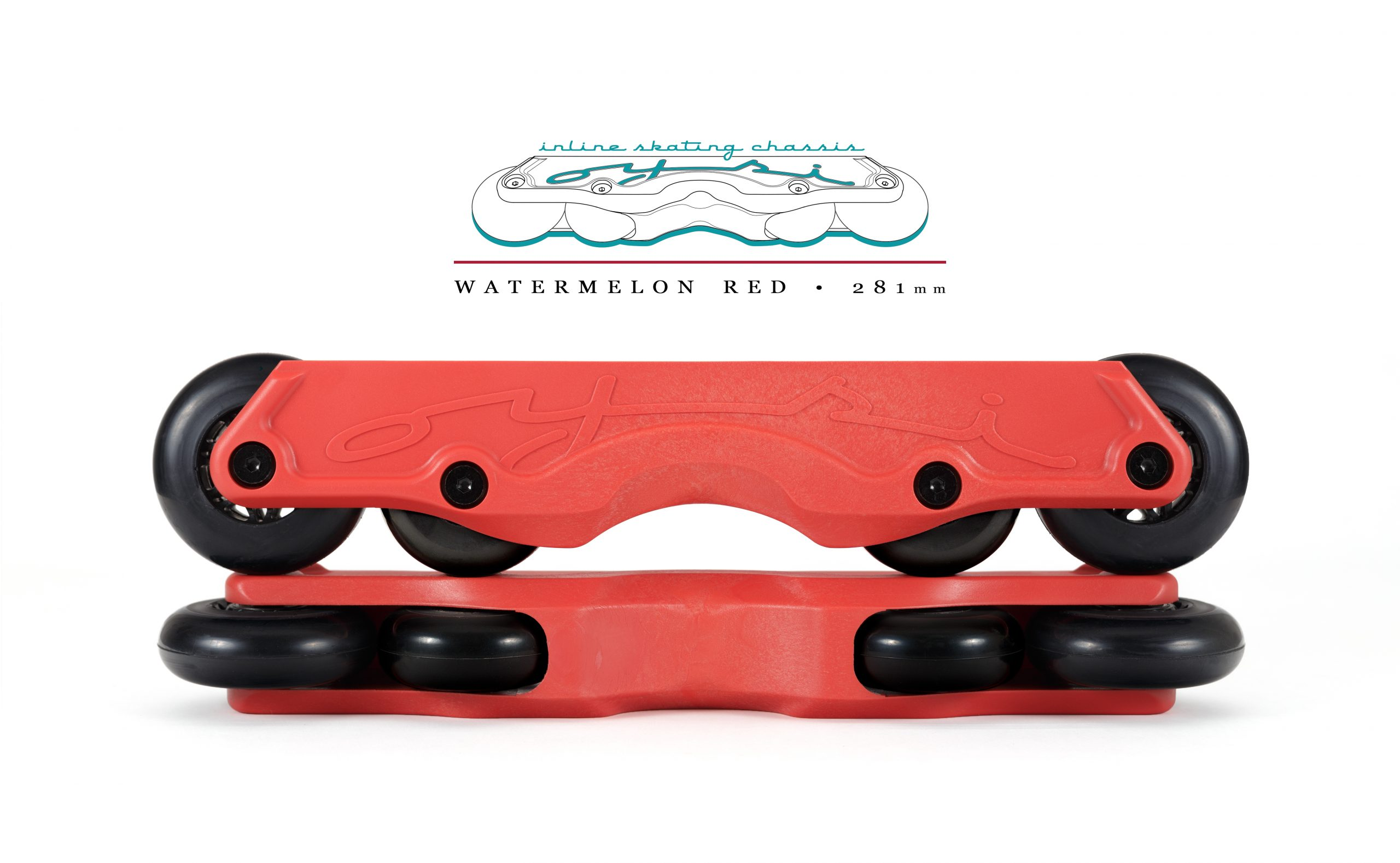 OISC Oysi Inline Skating Chassis 72mm  Watermelon Red