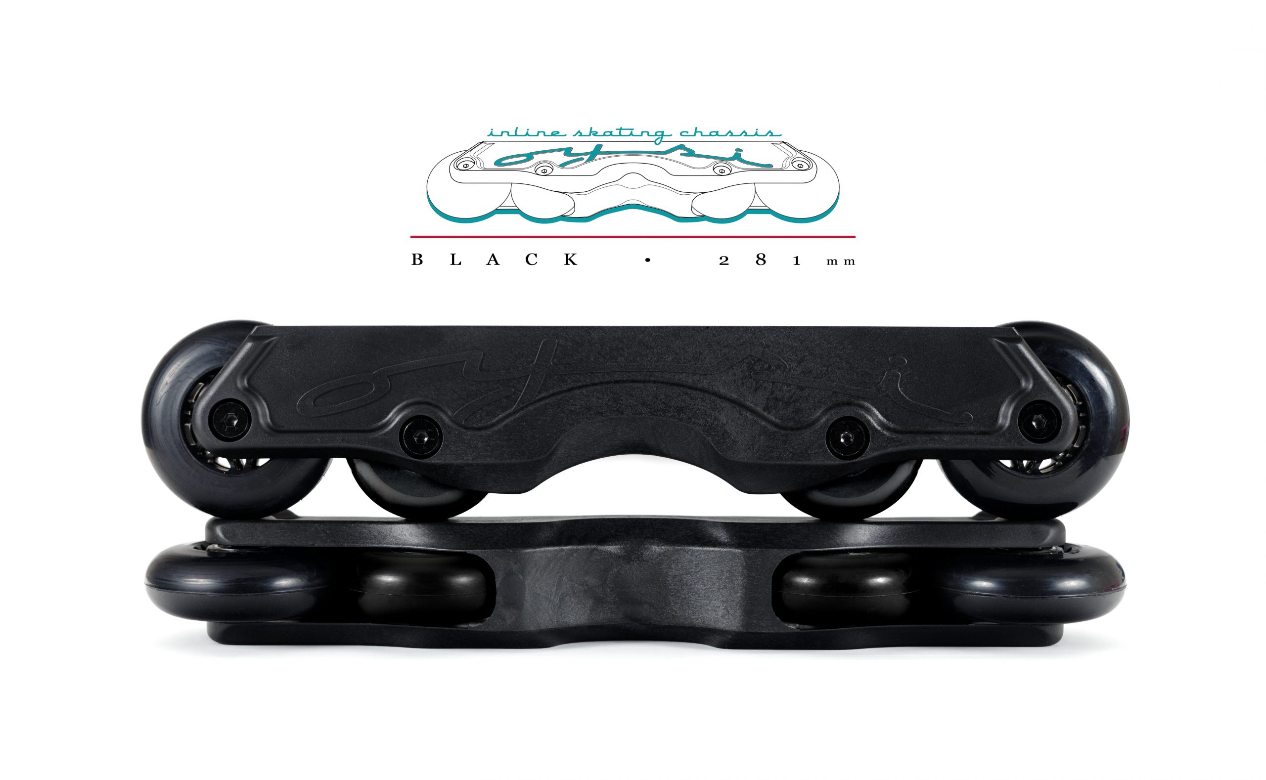 OISC Oysi Inline Skating Chassis 72mm Black