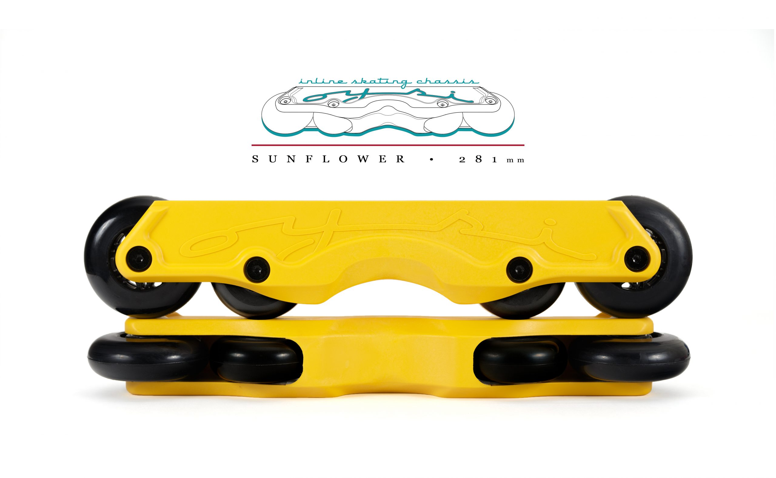 OISC Oysi Inline Skating Chassis 72mm  Sunflower