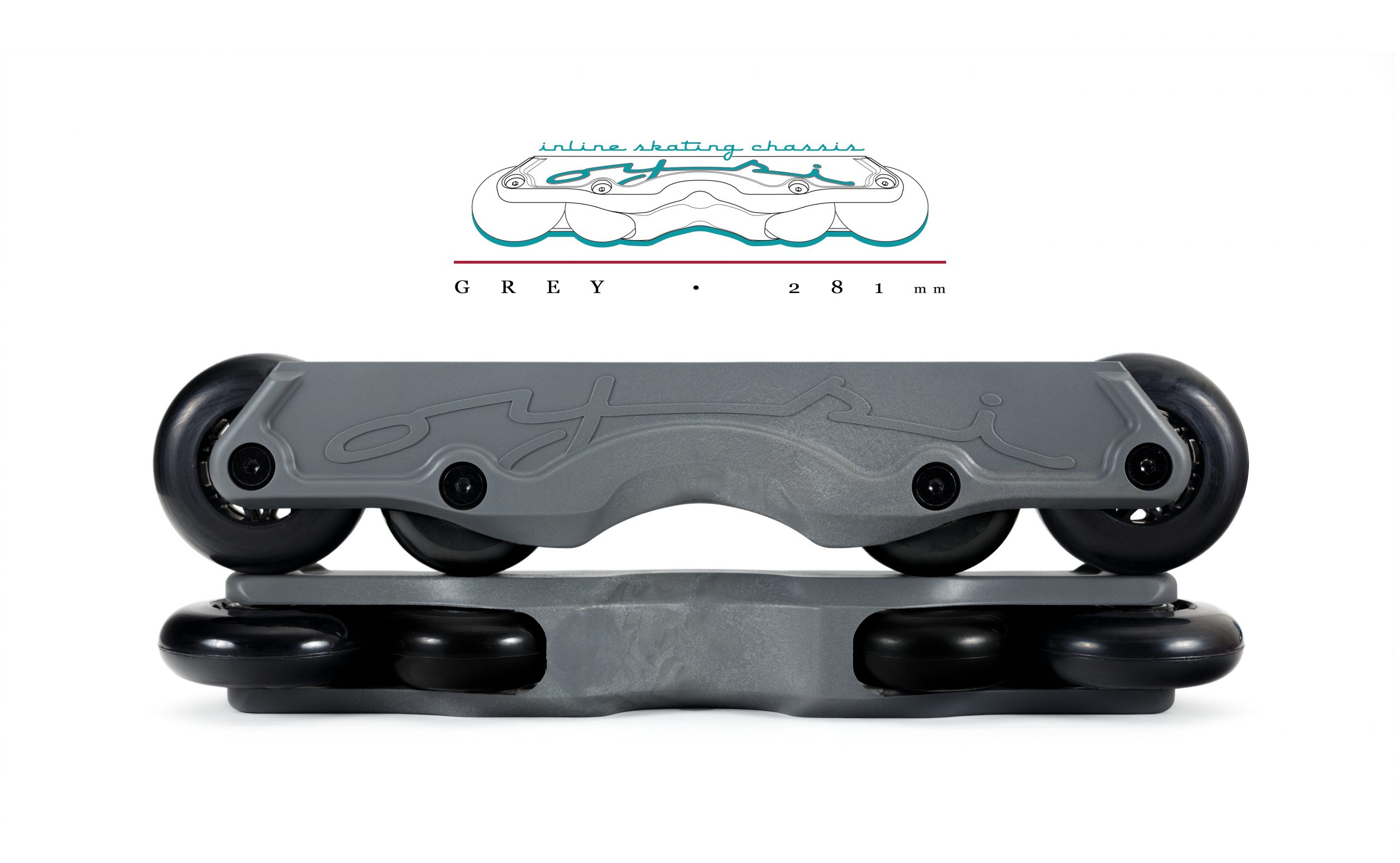 OISC Oysi Inline Skating Chassis 72mm  Grey