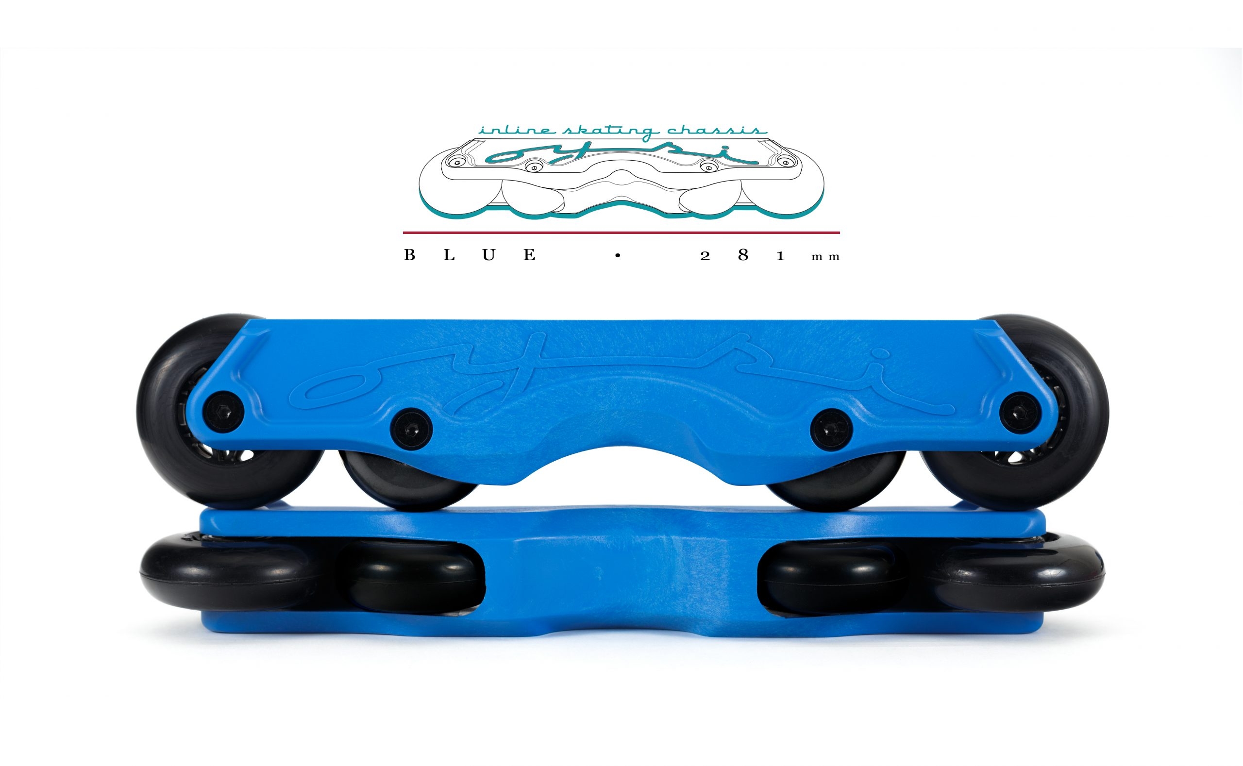 OISC Oysi Inline Skating Chassis 72mm Blue