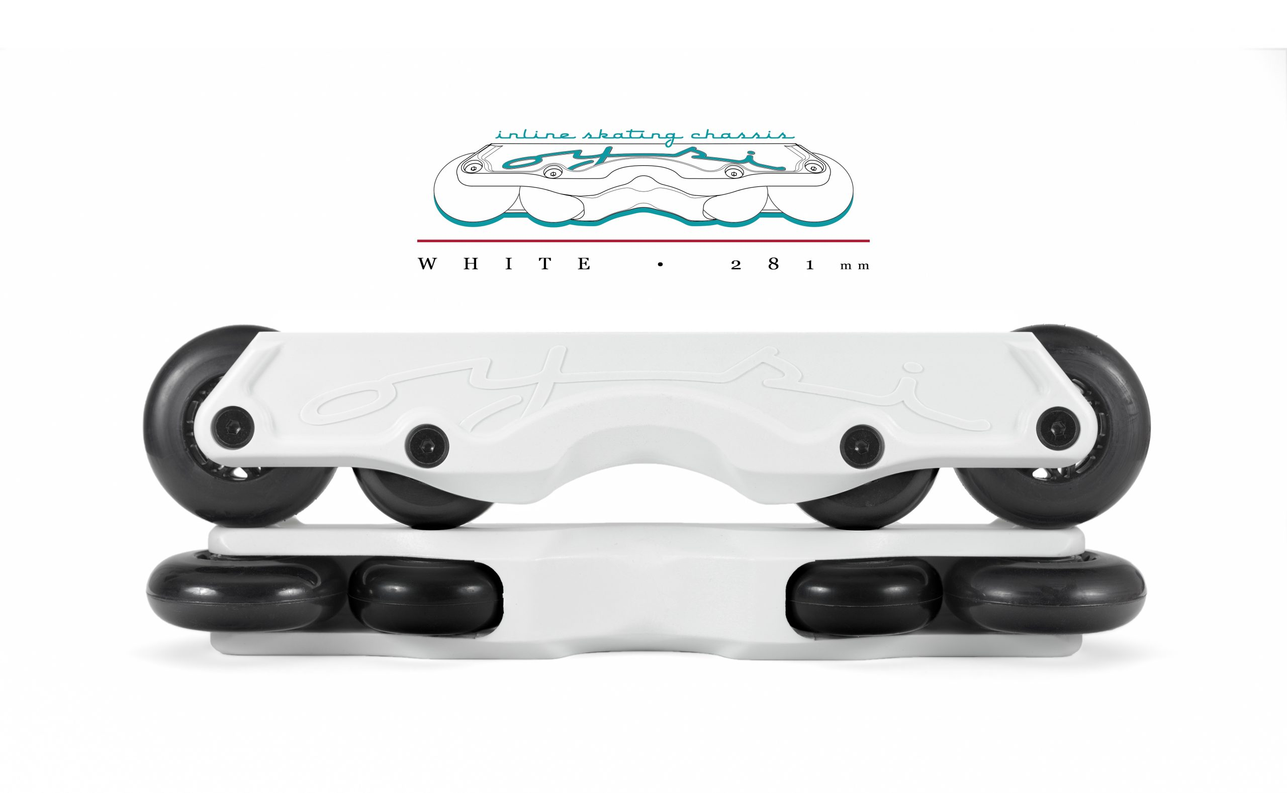 OISC Oysi Inline Skating Chassis 72mm White